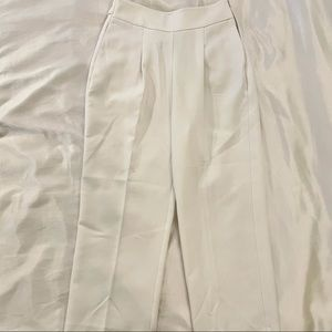 ZARA White High waisted Trousers size small